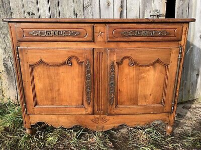 French Antique Country Cherry Dresser Sideboard