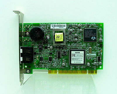 Diamond Pci Modem Card Adapter 23540020-003 Sup2260 Rockwell Chipset Vintage S89