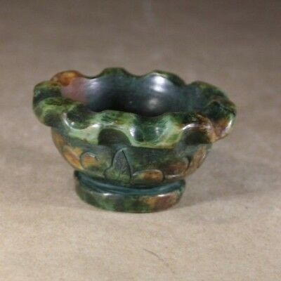 Antique Chinese Oriental Stone Carved Brush Washer Bowl