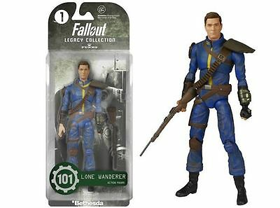 """Fallout/ Figura Lone Wanderer 15 Cm- Action Figure Legacy Collection 6"""" In Box"""