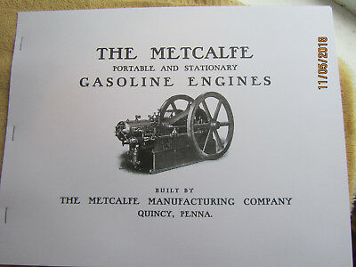 Metcalfe Manufacturing Quincy PA  Gas Engine  Catalog All sizes