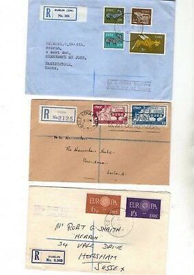 Ireland Various Unchecked Registered Fdc/covers X5 From Collection Bx1/3