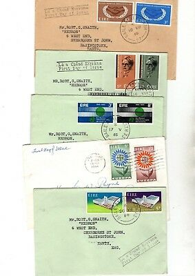 Ireland Various Unchecked  Fdc/covers X14 From Collection Bx1/4