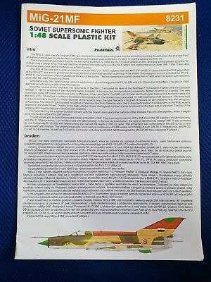 Eduard MiG21 MF Decals And Instructions