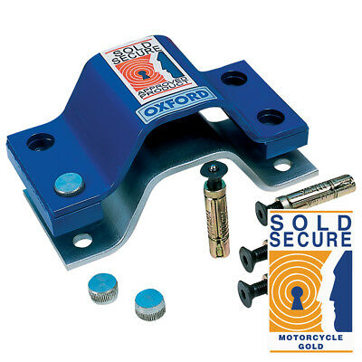 Oxford Secure Gold Anchor Force Bolt Down Ground Anchor - Motorcycle Security