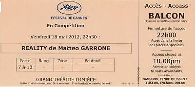 Ticket Billet collector Reality - Matteo Garrone Cannes Film Festival