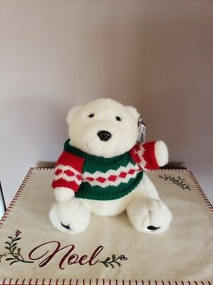"""Coca-Cola Plush Bear with Sweater 10"""" tall... I am 25 years old!"""