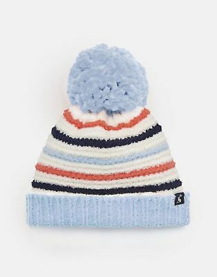 Joules Baby Pomme Chenille Knitted Bobble Hat in MULTI STRIPE