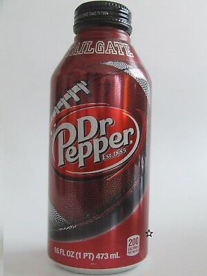 Rare DR PEPPER Aluminum Bottle TAILGATE Football Logo HARD TO FIND COLLECTIBLE