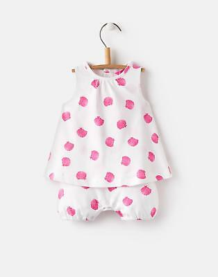 Joules Baby 124737 Baby Girls Mock Layer Romper 0 3 in Shells Size 0min3m