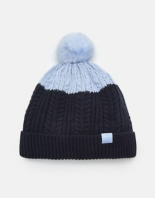 1fa1d893b30 JOULES GIRLS BOBBLE Hat in HAZE BLUE - EUR 5