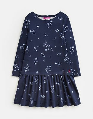 Joules Drop Waist Dress With Print in FRENCH NAVY CINDERELLA STAR