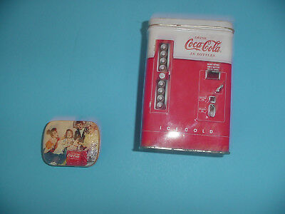 Vintage Mini Coke Cola Soda Tin Small & Coke Vending Machine Tin Lot