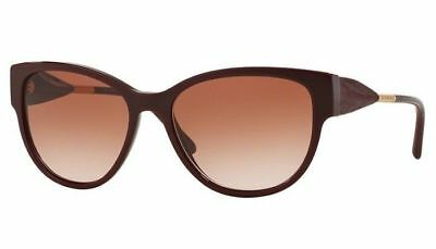 24f576ab656d New Burberry BE4190 3403 13 56MM Burgundy Cateye Sunglasses Women Fast Ship