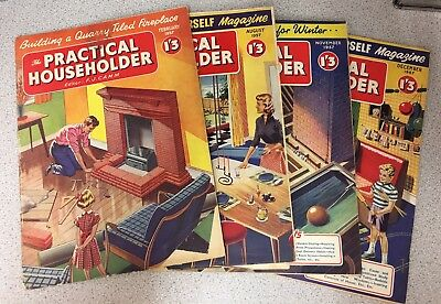 Practical Householder Magazines. February, August, November, December 1957
