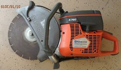 Husqvarna K760 Concrete GAS Saw w/Used Blade - GREAT USED CONDITION
