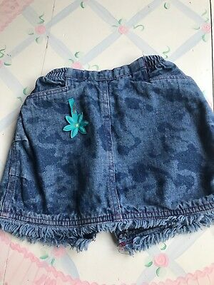French Designer Clayeux Baby Girl Denim Camouflaged Skirt Size 12 Mos Skirts