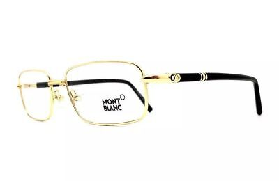 e4944244e8 MONT BLANC EYEGLASSES Gold 560 028 Brand New 56-19-145 without case ...