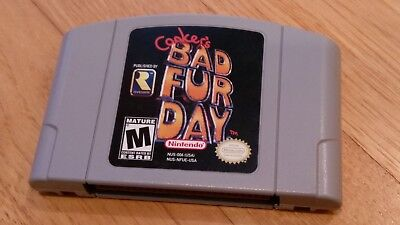 Conker's Bad Fur Day Nintendo 64 N64 Conker Video Game lot TESTED & AUTHENTIC!!!