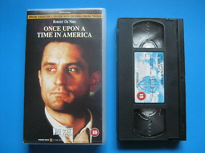 ONCE UPON A TIME IN AMERICA (1984) Robert De Niro CLASSIC GANGSTER EPIC - VHS