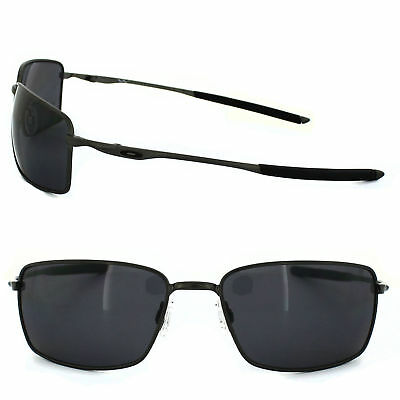 9ea1263564f OAKLEY Sunglasses Polarized SQUARE WIRE OO4075-04 Carbon Frame w  Grey  Lenses