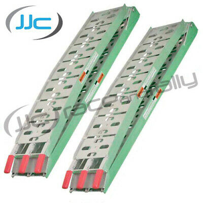 2 x Folding Aluminium Motorcycle/Bike/ATV/Quad Loading Ramp/Ramps - Pair