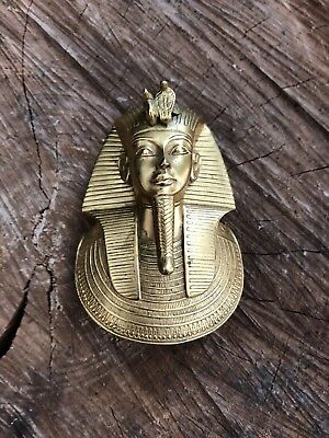 MMA King Tut 1976 Metropolitan Museum Art Replica Death Mask Egyptian Pendant