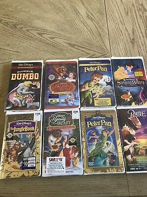 Disney VHS Movies Dumbo, Beauty and the Beast Peter Pan ,Sleeping Beauty, Sealed