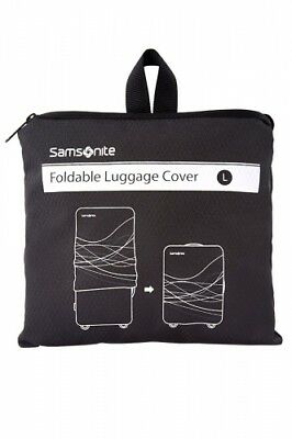 NEW Samsonite Travel Accessories  Foldable Luggage Cover - in Black - Large -