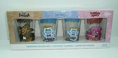 Drinking Glass Set Funko Count Chocula Boo-Berry Franken Berry Monster 16oz Pint