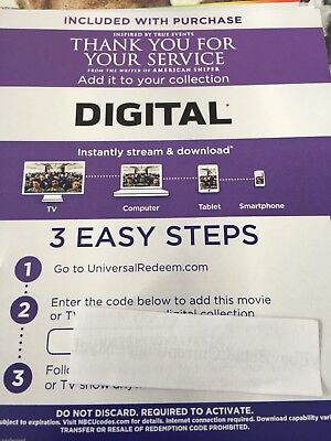 Thank You For Your Service 2017 HD Digital Code ONLY Miles Teller Amy Schumer