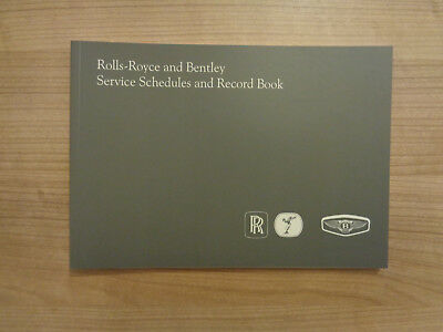 Rolls Royce/Bentley Service History Book