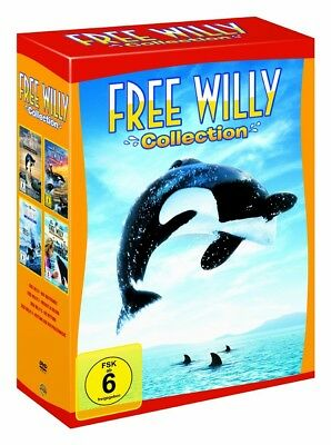 Free Willy Box Collection Teil 1-4 (1+2+3+4) NEU OVP 4 DVDs Komplettbox