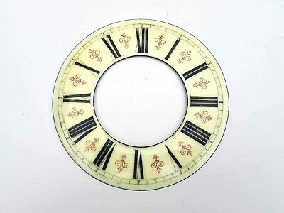 Antique Vienna regulator wall clock porcelain dial chapter ring