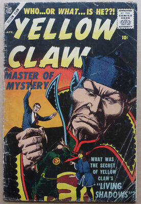 Yellow Claw #4, Silver Age Atlas/marvel Comics, 1957.