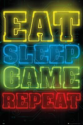 Gaming Poster Eat, Sleep, Game, Repeat   61 x 91,5 cm