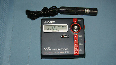 SONY WALKMAN Mini Disc Player Portable Digital Recorder Net MD MZ-N707 Type-R NM