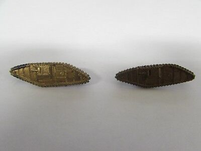 WWII US Army officer pair of armored tank branch insignia, no clutches.