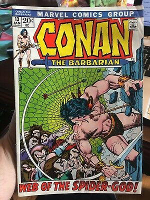 Conan The Barbarian #13! In FINE Condition! 1972! RARE! LOOK! WOW! See Pictures