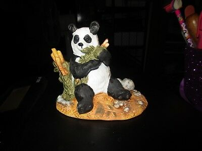 Royal Heritage Collection  ***Panda Eating Bamboo Leaves***  Porcelain Figurine