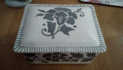 Charlotte Rhead cigarette box/trinket box .bursley ware