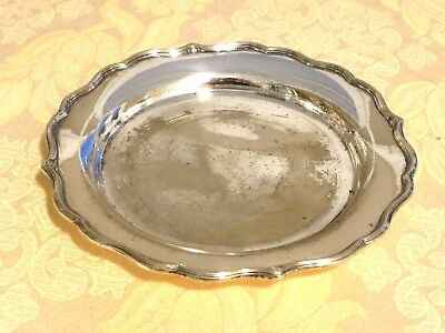 Victorian Silver Plated Decanter Coaster/stand With Scalloped Edge   1400525/530