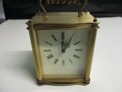 SMITHS FLOATING BALANCE BRASS CARRIAGE CLOCK c1950's FOR TLC