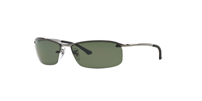 0f250e3f91 Ray Ban Sunglasses RB3183 004 9A 63mm Gunmetal Frame Polarized Green Classic