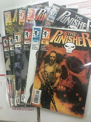 Punisher  1, 2, 3, 4, 5, 6 (2000) and Punisher 1, 2, 3, 4 (1998)