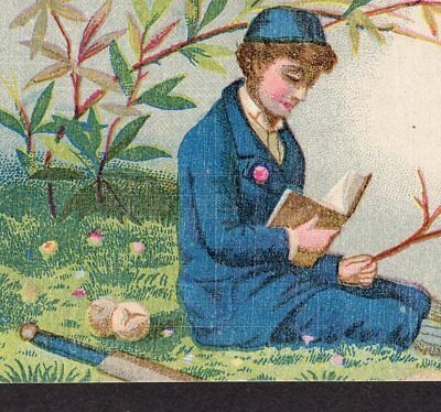 19th Century Baseball Card H804 Card 223 Victorian Coffee Advertising Trade Card