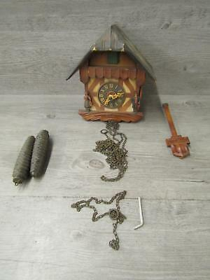 Vintage Carved Wood Black Forest Cuckoo Clock Regula Germany Untested As Is