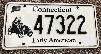 Connecticut Early American License Plate 47322
