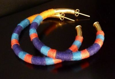 Earrings,rings,hoop Woman or girl Gold Plated 3 Microns Woven Bohemian style New
