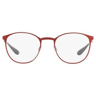 ed656d6732 Ray Ban Rx Eyeglasses Red Color w Demo Lens Unisex RX6355 2922 47 optical  Frame